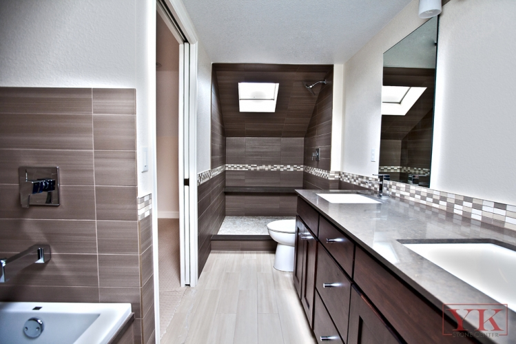 Highlands Area Contemporary Bathroom YKStone Center In Denver - Dark colored bathrooms