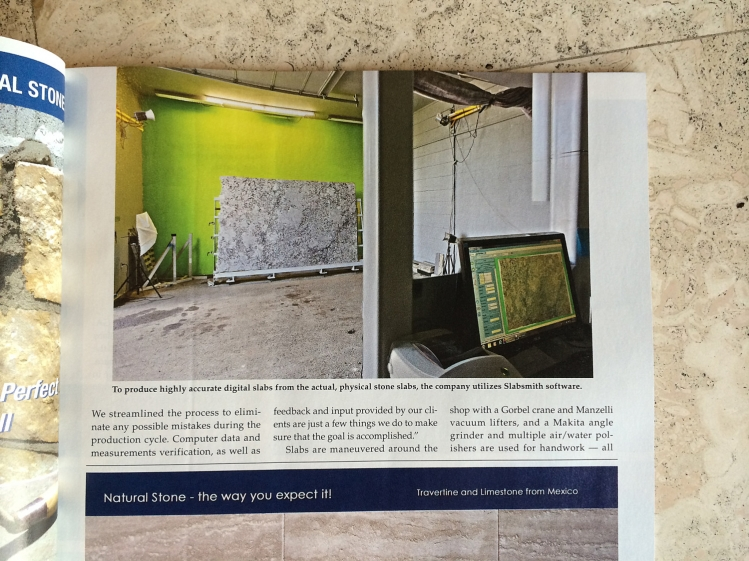 yk stone center denver stone world magazine june - Stone Slab Hotel 2015